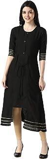 OM SAI LATEST CREATION Designer Slub Cotton Fully Stitched Anarklai Kurti for Women & Girls on Jeans Palazzo or Skirt (Plu...