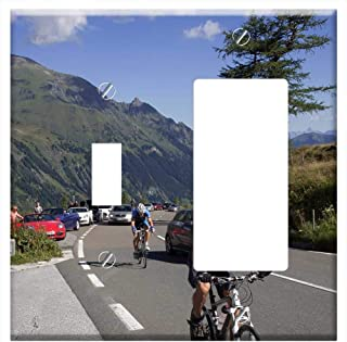 1-Toggle 1-Rocker/GFCI Combination Wall Plate Cover - Pass High Alpine Road Auto Grossglockner Moun