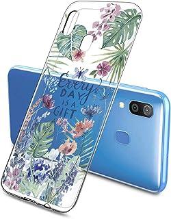 Suhctup Compatible con Samsung Galaxy J5 Prime 2017 Funda Flor de TPU Transparente Diseño de Flores Patrón Cárcasa Ultra F...