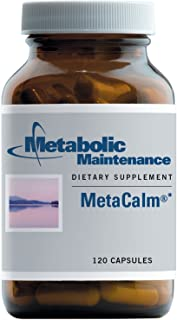 Metabolic Maintenance MetaCalm - Neurotransmitter Support with GABA, 5-HTP, L-Theanine + B6 as P-5-P (120 Capsules)