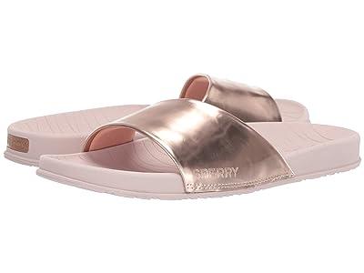 Sperry Shell Slide Metallic (Rose Gold) Women