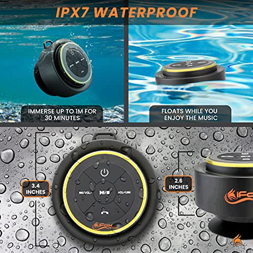 iFox iF012 - Altavoz inalámbrico portátil con Bluetooth, con 10 Horas de bateria Completamente Impermeable, Totalmente Sumergible Compatible con iPhone, iPad, iPod, Android, PC y Radio
