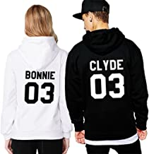 JINT Couple Hoodie Matching Valentine Gift Set Bonnie Clyde Sweatshirt Pullover