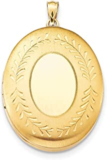 1/20 Gold Filled 34mm 2 Frame Oval Photo Pendant Charm Locket Chain Necklace That Holds Pictures Fashion Jewelry Gifts For Women For Her
