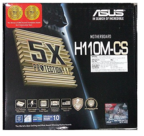 Asus H110 Motherboard With 5X Protection