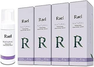 Rael Natural Feminine Cleansing Wash - 4Pack, Foaming Wash, pH-Balanced, Sensitive Skin, Light&Fresh Scent, Daily Cleansing Wash, Natural Ingredients (5oz, 4Pack)