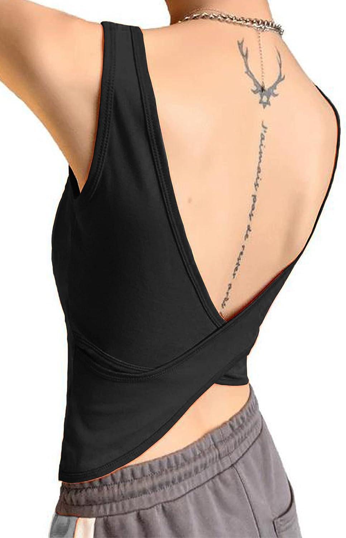 KalyChic Womens Summer Basic Sleeveless V Neck Cut Out Keyhole Crop Top Cami