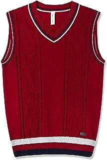 Boys Vest V-Neck Uniform Sweater Vest Sleeveless Knited School Sweater for Boys/Girls Homecoming Gift