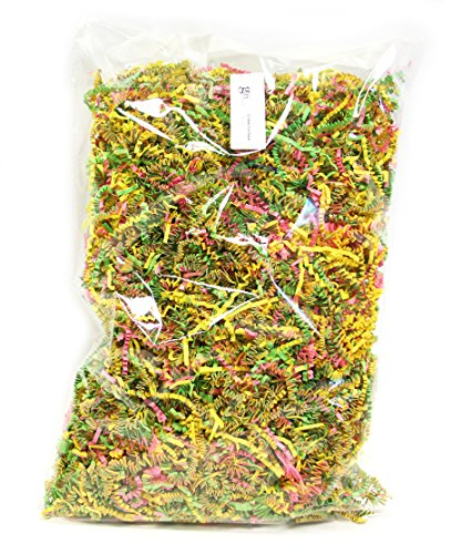 Gift Expressions Easter Basket Filler, 10 Oz Bag, Assorted Colors Easter Grass, 100% Recyclable Crinkle Cut Paper Shred Filler for Gift Wrapping, Gfit Bags, Easter Candy & Easter Toys