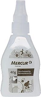 Cola Escolar Gel, Mercur B01010702001, Transparente, 40 g, Pacote de 6