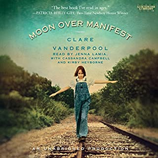 Moon Over Manifest audiobook cover art