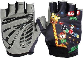 Wilk L (10 años de Edad y más) Deportes para niños con Medio Dedo Guantes de Seguridad para Dedos Cortos índigo 1 par