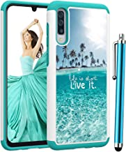 ForGalaxy A50 Case,Voanice Shockproof Hybrid Heavy Duty Armor Protective Phone Case Hard PC and Soft Silicone Rugged Women Men Girls Dual Layer Protection Slim Cover for Samsung Galaxy A50 Teal Sea