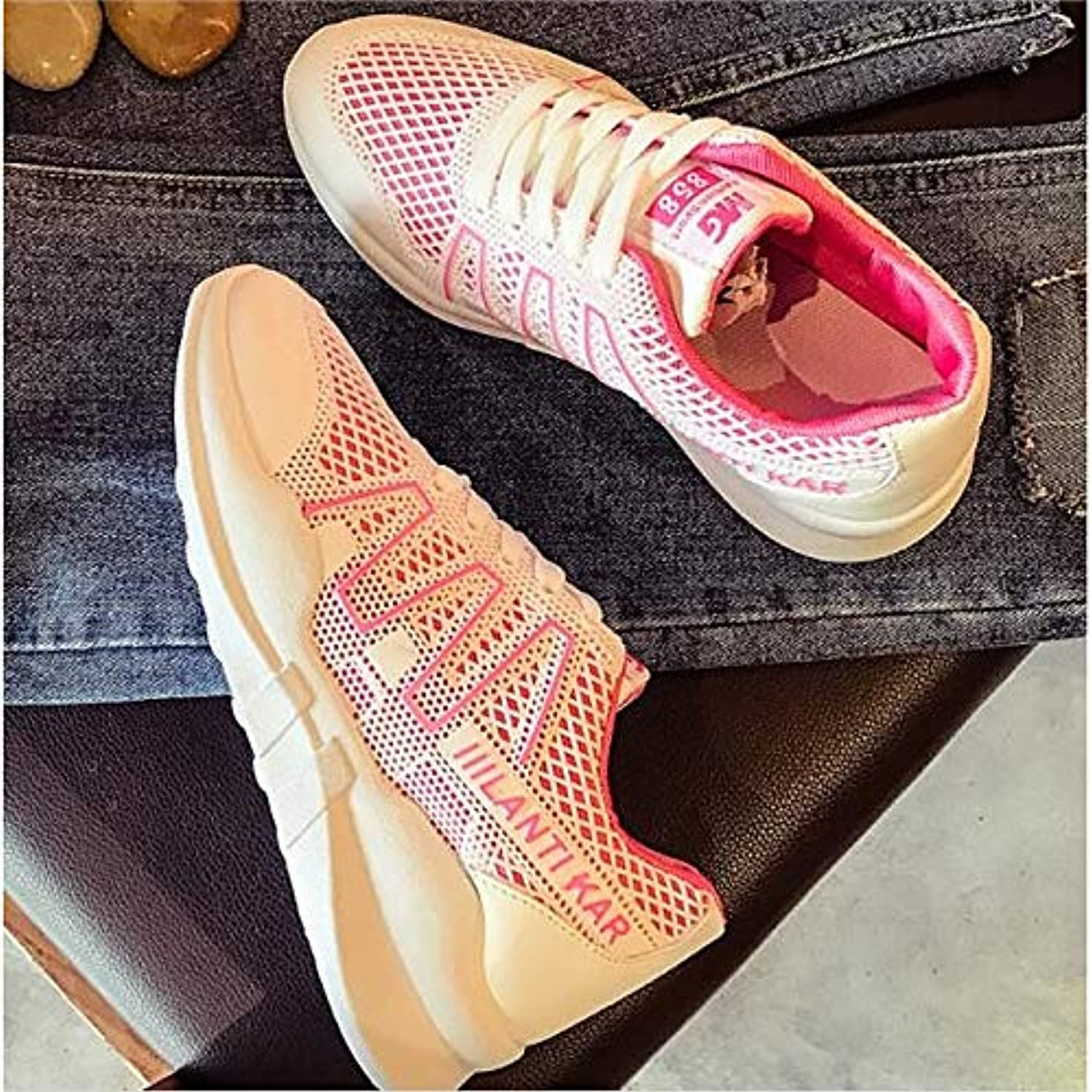 Women's shoes Mesh Spring Summer Comfort Sneakers Creepers Closed Toe White Green   Pink