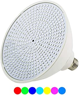 Color-Changing LED Pool Lamp 35 Watt Replacement for Incandescent Bulbs in Pool Lights, Color Memory, 16 Lights Shows, Synchronization, Switch Control (120V 35W)