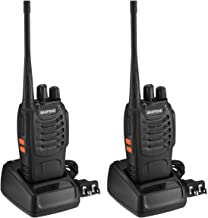 BaoFeng BF-888S Walkie Talkies 16 Channels Long Range VHF/UHF 400-470MHZ Two Way Radio FM Transceiver Set(2 Pack)