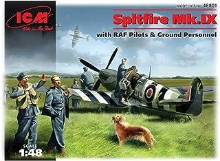 ICM ICM48801 1:48-Spitfire Mk.IX w/RAF Pilots & Ground Personnel