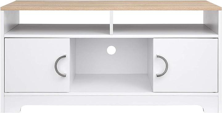 mobile per tv vasagle armadio porta tv con ante soggiorno camera da letto 105 x 40 x 52 cm ltc03wn