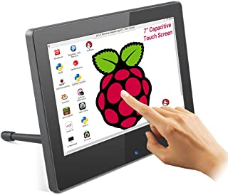 ELECROW 7 Inch Raspberry Pi Monitor Touchscreen Capacitive IPS Display 1024x600 USB Powered HDMI Monitor with Built-in Spe...