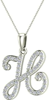 Best diamond initial necklace charm Reviews