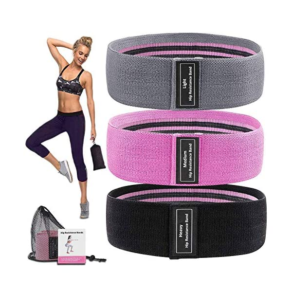 MOVOYEE Exercise Bands for Working Out Men Women,Workout Elastic Bands Long Fabric...