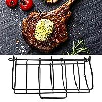 家庭用キッチン用軽量ステーキスタンド、アイロン耐熱折りたたみ式バーベキューグリルラック