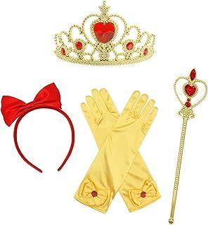AmzBarley Accessoires Costume de Princesse Fille Enfant Déguisement Fête Cosplay Anniversaire Noël Jouets Couronne Sceptre...