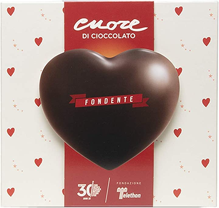 Cuore di cioccolato telethon fondente. il dono della generosità. B08NTHD4TQ