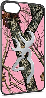 iPhone 7/7s Pink Real Tree Case Browning Deer Pink Camo Oak Design for iPhone 7/7s Case(Black Hard Plastic)