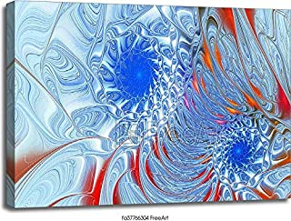 Barewalls Metal Spiral Fractal Background with Interlacing Gallery Wrapped Canvas Art (30in. x 40in.)