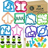 Sandwich Bread Cutters Set for Kids Bento Lunch Box Mold Supplies Vegetable Fruit Crust Shapes...