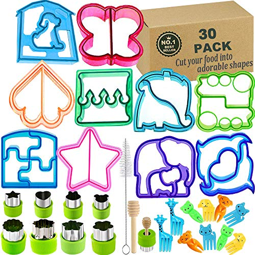 Sandwich Bread Cutters Set for Kids Bento Lunch Box Mold Supplies Vegetable Fruit Crust Shapes Cookie Cutters