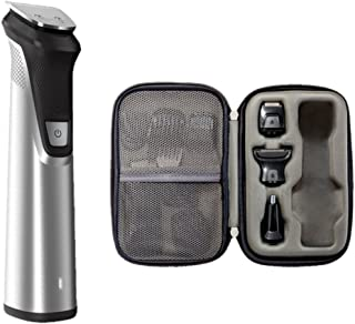 Philips Norelco Multigroom All-in-One Trimmer Series 7000, 25 pieces and premium case - No Blade Oil Needed, MG7770/49