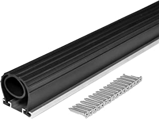 BOWSEN 10FT Heavy-Duty U+O Ring Universal Garage Door Bottom Seals Rubber Weatherstrip with Aluminum Track Retainer Kit