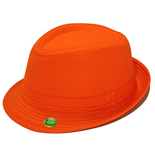 Locomo Plain Color Fedora Short Upturn Brim Hat FFH312BLK c37af4886f9