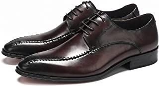 Business Pointed Formal Oxfords Shoes Formal Shoes (Color : Coffee, Size : 37)