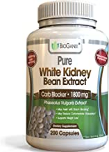 BioGanix Weight Loss Supplement with Pure White Kidney Bean Extract Carb and Fat Blocker, 1800 mg, 200 Capsules
