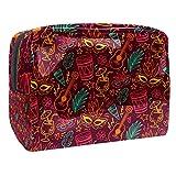 Bolsa de maquillaje portátil con cremallera bolsa de aseo de viaje para las mujeres práctico almacenamiento cosmético batería guitarras