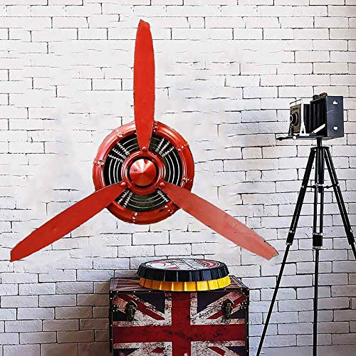 WRUJ Hélice d'avion en Fer De Style Industriel Rétro, Décoration Murale De Barre De Restaurant Loft, Décor d'art Mural d'avion...