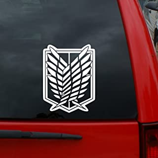 Attack on Titan - Scouting Legion Crest Decal - 5� Tall Vinyl Decal Window Sticker for Cars, Trucks, Windows, Walls, Laptops, and More.