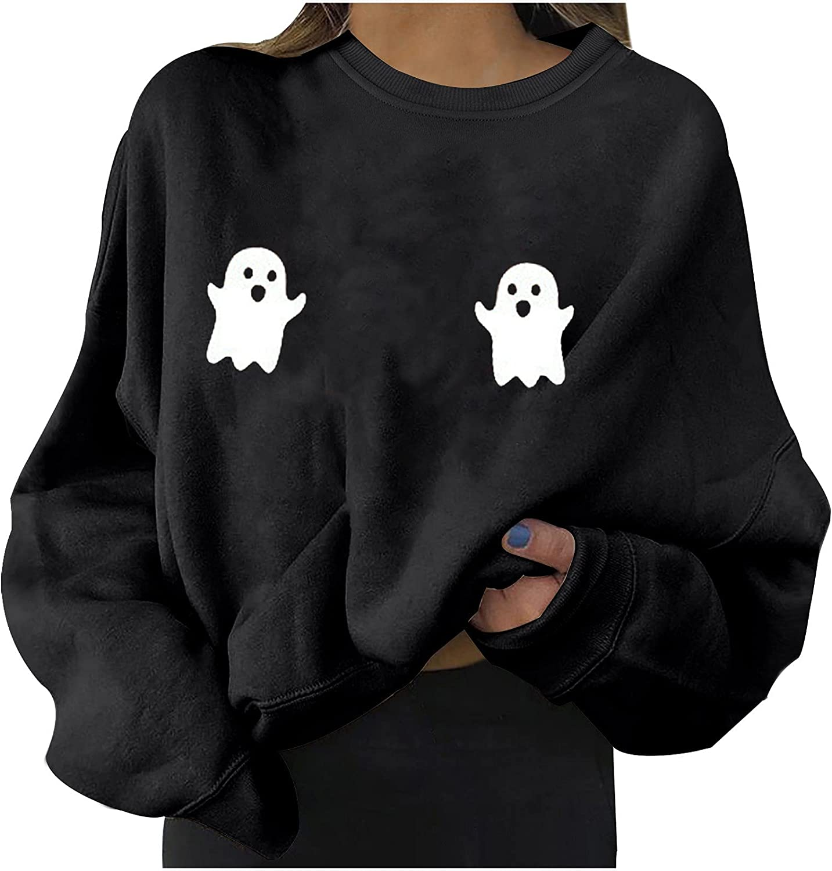 All-Match Women's BlouseCute Halloween Modern Women's Relaxed Long Sleeve Printed Women's Sweatshirts Tops