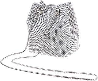 joyMerit Bolso de Mano de Noche Bolso de Mano con Diamantes de Imitación de Cristal Monedero para Mujer