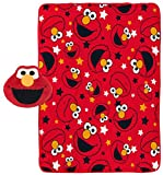 Jay Franco Sesame Street Elmo Plush Pillow and 40' Inch x 50' Inch Throw Blanket - Kids Super Soft 2 Piece Nogginz Set (Official Sesame Street Product)