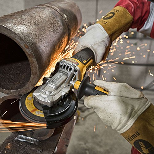 Dewalt DCG405FN-XJ DCG405FN Cordless XR Brushless Flathead Angle Grinder, 18 V, Yellow/Black, 125 mm