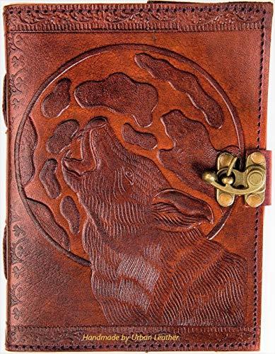 Cuaderno de piel Urban Bullet Journal para hombres y mujeres, cuaderno de bocetos, álbum de recortes, dibujos, bloc de notas, libro de sombra de heno en relieve, diario diario diario sin forro