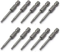 Autoly 10 Pcs 2.5mm Tip 1/4-inch Hex Shank Magnetic Screwdriver Bit,5mm/2'' Length