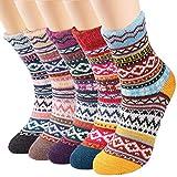 5 Pairs Womens Socks Thermal Wool Socks Winter Thick Warm Socks