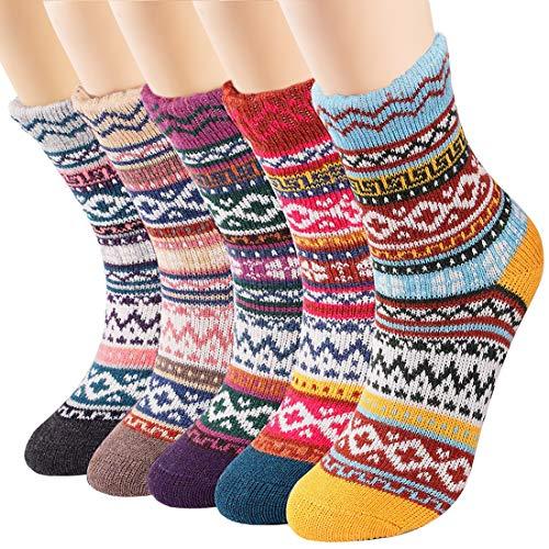Womens Socks Thermal Wool Socks Winter Thick Warm Socks
