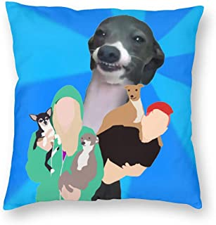 Jen-na-Marbles-Dogs Square Pillow Throw Case Pillow Covers Set Cushion Hold Pillowcase Sofa Bed Home