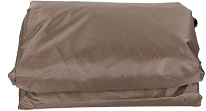 TOPINCN Waterproof Polyester Square Hot Tub Cover Outdoor SPA Covers Square Hot Tub Cover Hot Tub Outdoor Cover Cap and Hot Tub Cover Protector (Coffee)